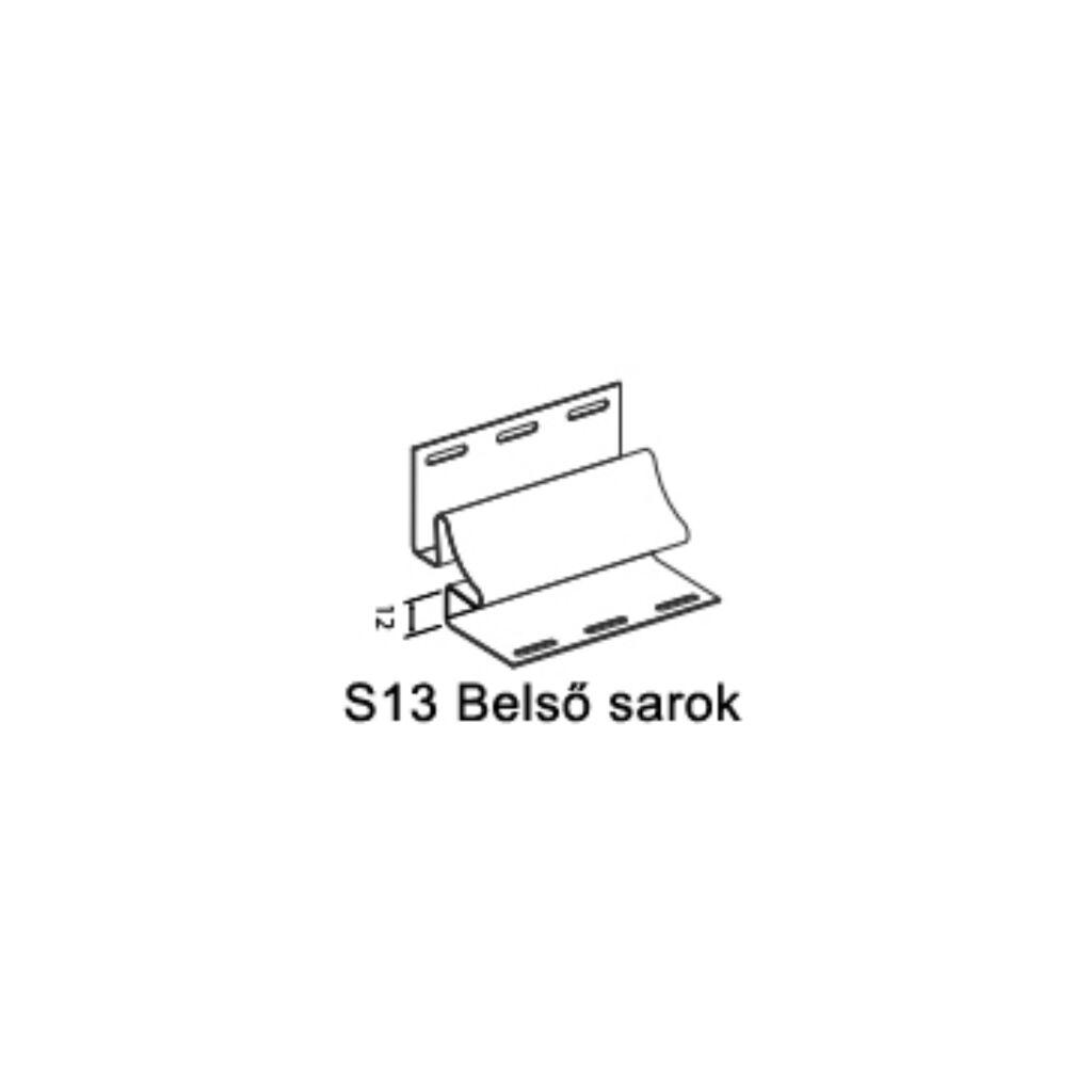 Belső sarok S-13 fehér