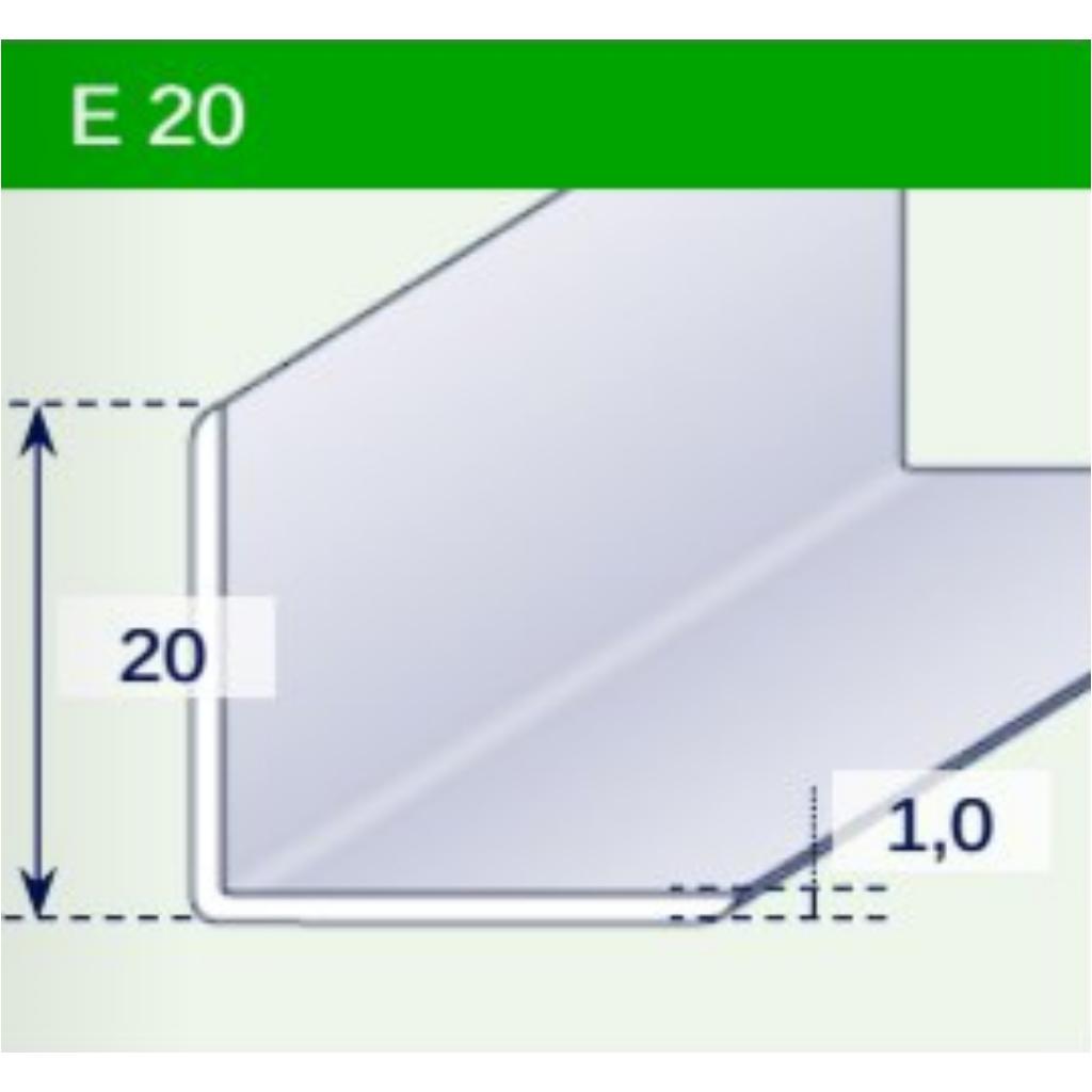 L-profil - 20x20 mm - fekete
