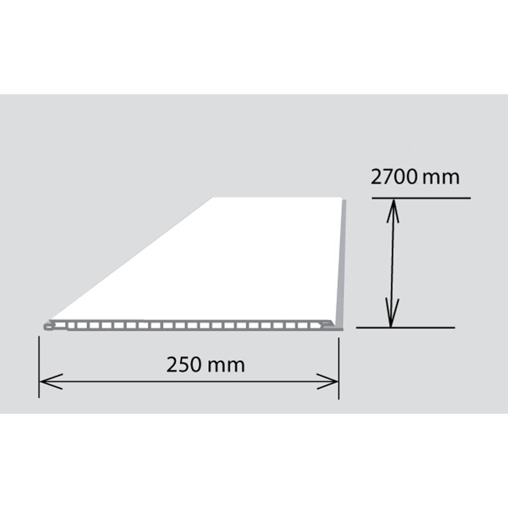 Decor falburkoló 25x270 cm Fehér