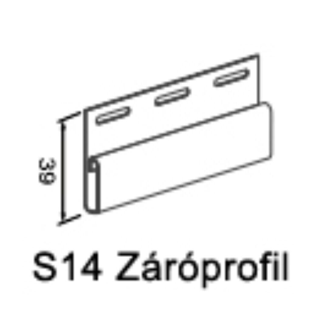 Záró profil S-14 bézs