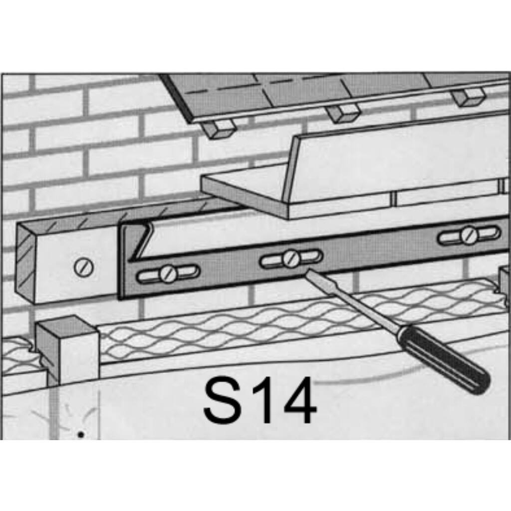 Záró profil S-14 szürke