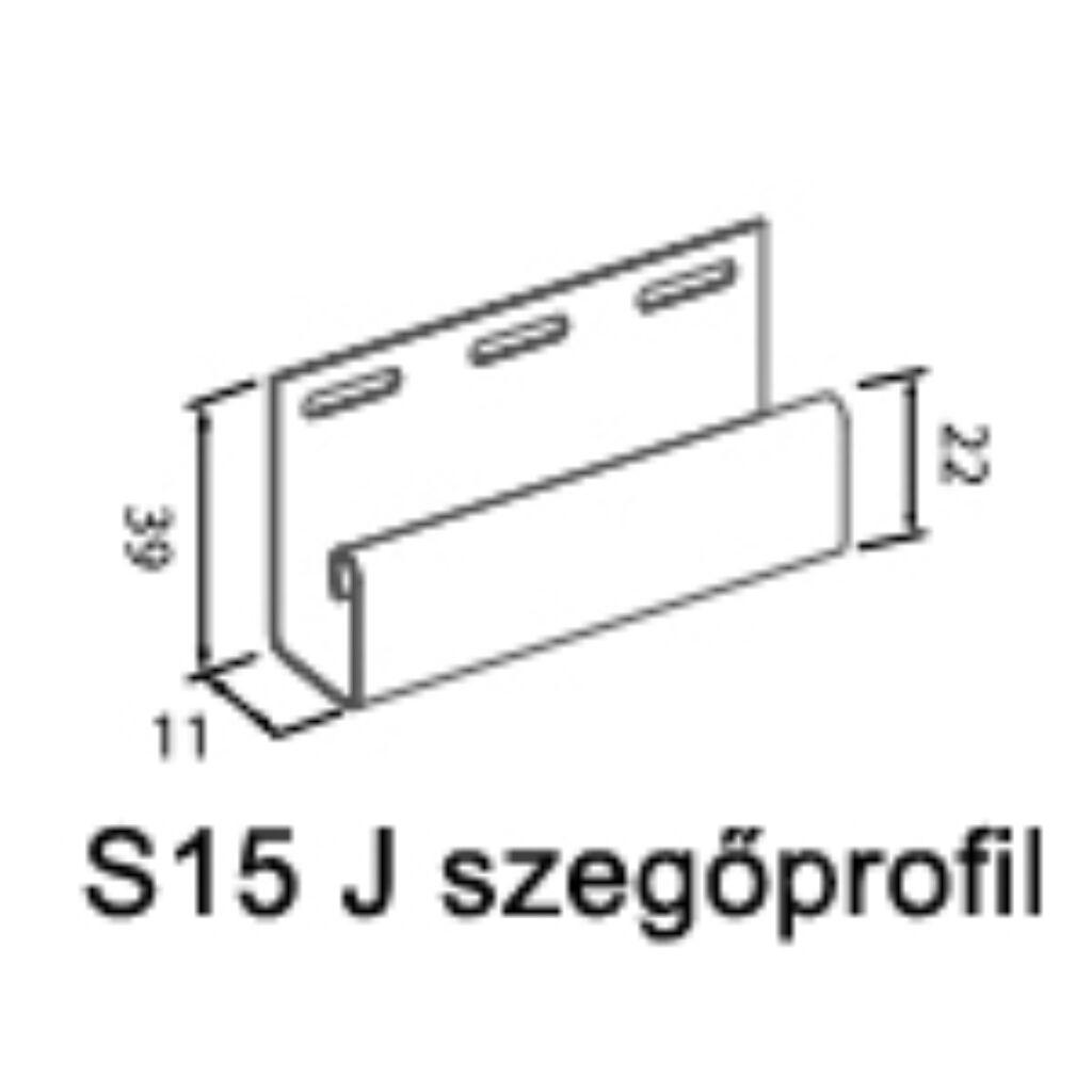 J profil S-15 szürke