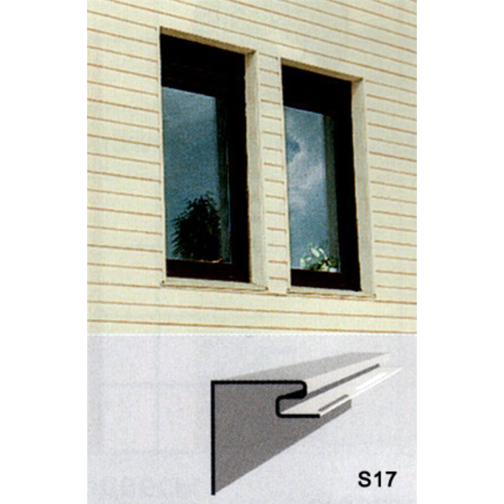 Ablakszegély profil S-17 szürke