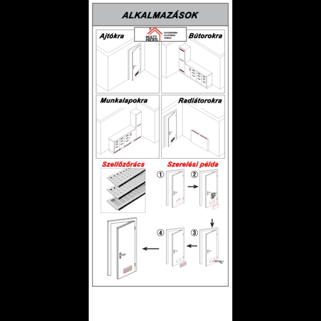 Aluminum szellőzőrács